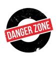 Danger Zone rubber stamp vector image vector image