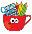 pencil cup vector image vector image