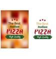 Best Italian pizza poster vector image vector image