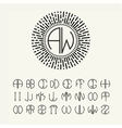Template letters to create monograms vector image