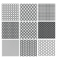 Geometric Monochrome Seamless Background Patterns vector image vector image