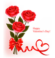 red roses valentine background vector image vector image