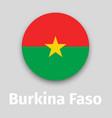 burkina faso flag round icon vector image