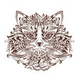 cat head monochrome graphic drawing tattoo vector image