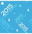 Christmas blue seamless background 2015 vector image