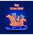 Christmas card with sled vector image
