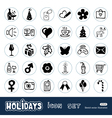 Christmas holidays web icons set vector image