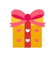 Gift icon flat design Isolated on white vector image