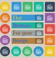 Keyboard icon sign Set of twenty colored flat vector image