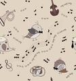 music bird vector image