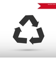 Recycle Icon Flat design style vector image