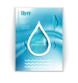 with water drops booklet vector image