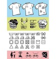 Handling and care of clothing vector image