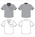 Mans buttoned shirt outlined template vector image