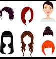 Set of six woman haircuts vector image