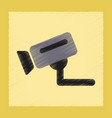 flat shading style icon security camera vector image