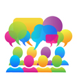 Social media speech bubbles logo vector image vector image