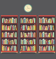 Three Bookcase Vintage Design vector image