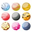 decorative balls vector image vector image