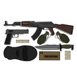 Military weapon pack vector image