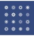 snowflakes set for Christmas design christmas vector image