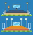 Flat design of sport stadium vector image