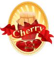 cherry jar vector image vector image