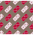 Seamless background with dominoes vector image
