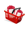 Basket and Present vector image vector image