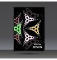 Modern abstract design Cover template vector image