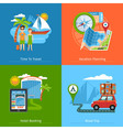 Travel Concept Banners Set vector image vector image