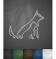 dog and cat icon vector image