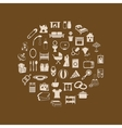 family and home icons in circle vector image
