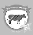 Farm shop cow Silhouette milk Diagram and Design vector image