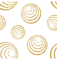 Gold concentric circle seamless pattern white 1 vector image
