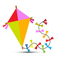 Kite Isolated on White vector image