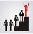 leadership and teamwork concept the business vector image
