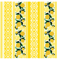 seamless striped background with yellow flowers vector image