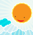 Sunrise in the morningBackground cartoon character vector image vector image