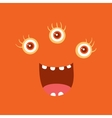 Funny Smiling Monster Smile Bacteria Character vector image