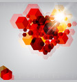 abstract background of 3d rendering cubes vector image