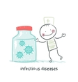 infectious diseases specialist is standing next to vector image vector image