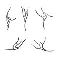 Rhythmic gymnastics sketches set vector image