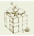 gift box hand drawing vector image vector image