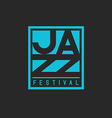 Jazz festival mockup poster lettering musical vector image vector image