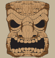 Wooden Tiki Carving vector image