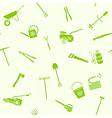 seamless garden tools vector image