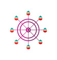 ferris wheel icon isolated vector image