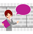 girl at office vector image