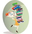 Librarian vector image